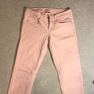 American Eagle Light Pink colored Skinny Jeans